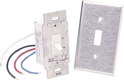 LIGHT/FAN SWITCH – UP TO 60 MIN. DELAY 115V