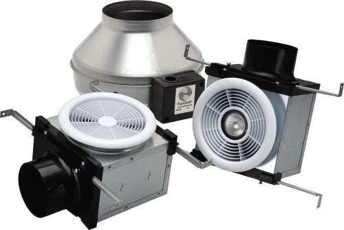 DUAL GRILLE BATH FAN, USES 4 IN. & 6 IN. DUCT – 270 CFM, FLUORES