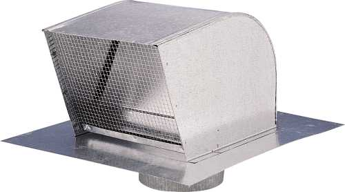 ROOF CAPS, 4 IN. DUCT, ALUMINUM