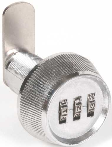 DIAL COMBINATION CAM LOCK RESETTABLE, 1-7/32 INCH