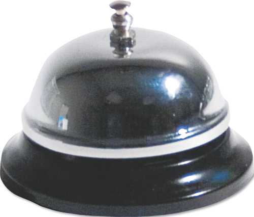 CALL BELL BRUSHED NICKEL 3-3/8 INCH DIAMETER