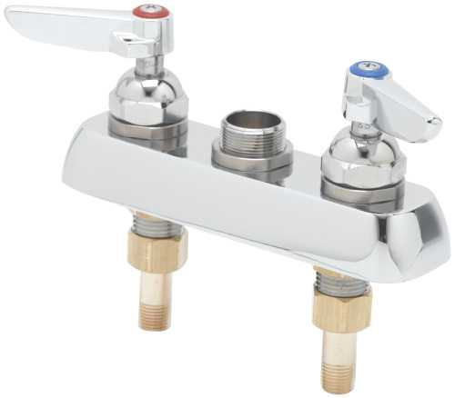 T & S BRASS WORKS DECK MOUNT WORK BOARD FAUCET WITH 3-1/2 IN. CE