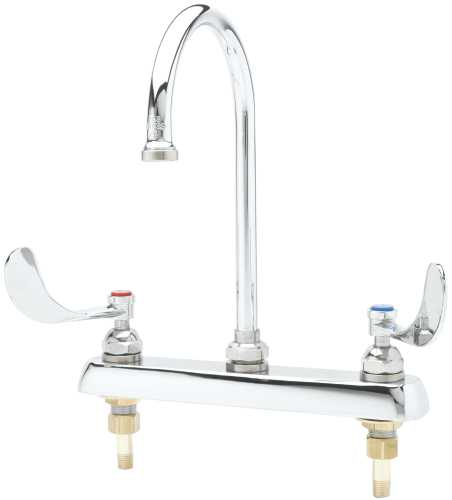 T & S BRASS WORKS DECK MOUNT WORK BOARD FAUCET WITH 8 IN. CENTER