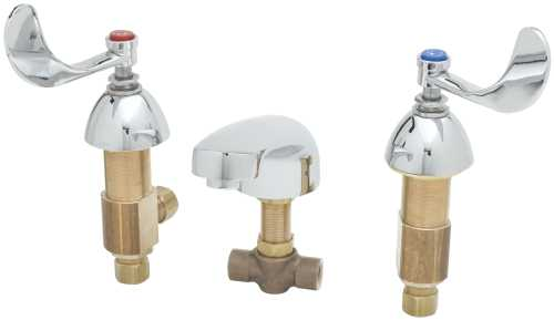 T & S BRASS WORKS DECK MOUNT MIXING LAVATORY FAUCET WITH 8 IN. C