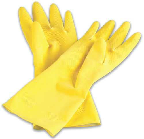 AMBITEX GLOVE LATEX FLOCKLINED YELLOW SMALL 12 PER PACK 12/CS