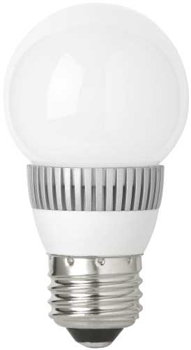 TCP DIMMABLE 3 WATT LED MEDIUM BASE G16 GLOBE LAMP, 2700K COLOR