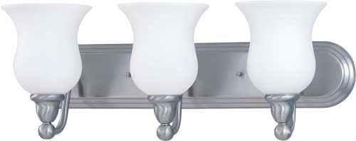 DUPONT 1 LIGHT VANITY WITH SATIN WHITE GLASS 13W GU24 LAMP INCLU