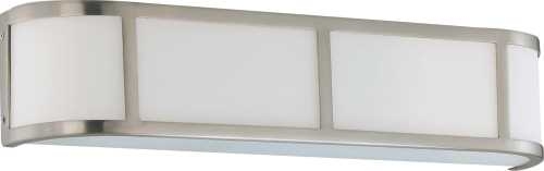 GLENWOOD 4 LIGHT VANITY WITH SATIN WHITE GLASS, LAMP INCLUDED