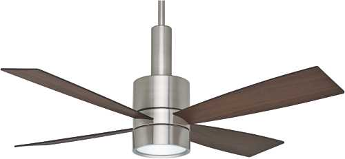 CASABLANCA, BULLET 54 IN., 4 BLADE BRUSHED NICKEL LIGHTED CEILIN