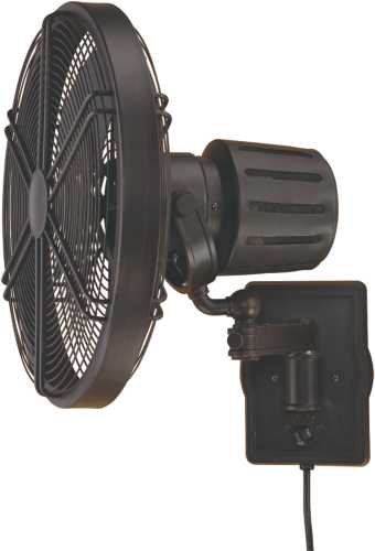 FARADAY WALL MOUNT FAN AGED BRONZE WITH ANTIQUE BRONZE BLADES