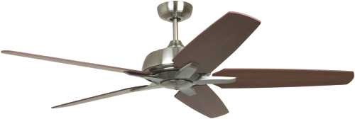 AVALON 56 IN. DUAL MOUNT CEILING FAN, BRUSHED NICKEL WITH BOWL L
