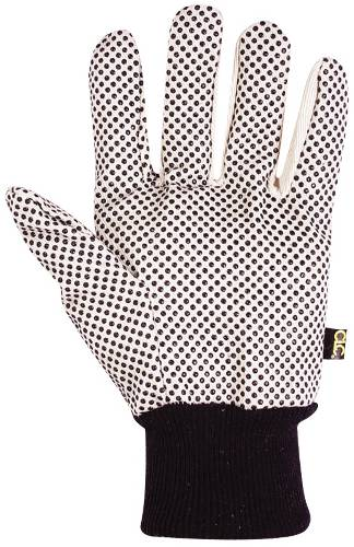COTTON GLOVES WITH GRIPPER DOTS