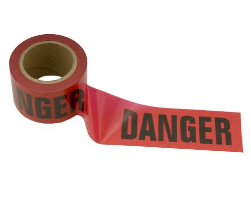 DANGER TAPE 3 IN X 300 FT BLACK/RED
