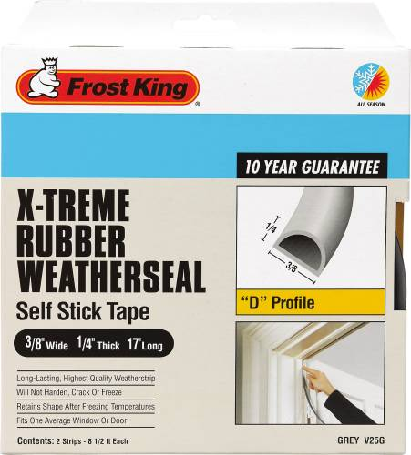 FROST KING® WEATHERSTRIP TAPE 3/8 IN. X 1/4 IN. X 17 FT. GRAY