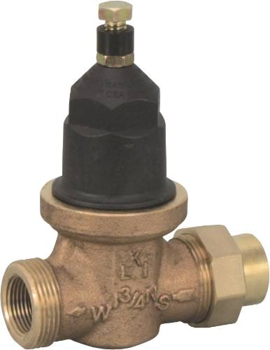 "WILKINS WATER PRESSURE REDUCING VALVE 3/4"" FIP W UNION LEAD FREE"