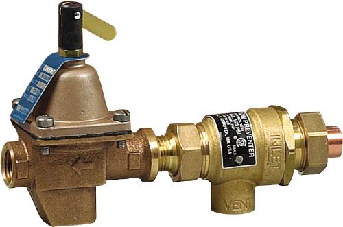 BACKFLOW PREVENTER AND HOT WATER BOILER FILL VALVE 1/2 IN SWEAT