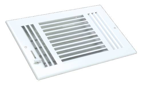 THREE WAY SIDEWALL REGISTER 10 IN. X 6 IN. WHITE
