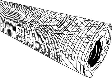 FLEX DUCT 6 IN DIAMETER, R 6 INSULATION VALUE, 25 FT LENGTH