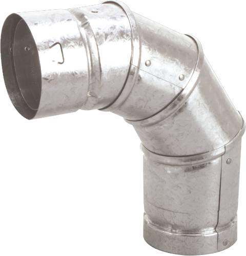 GAS VENT TYPE B, 3 IN X 90 DEG ELBOW