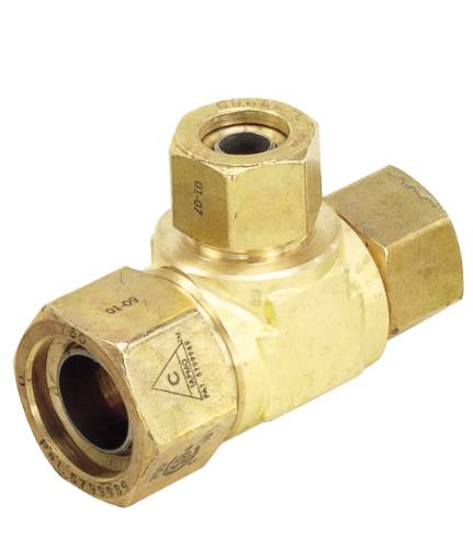 TRAC PIPE AUTOFLARE FITTING TEE 3/4 IN. X 1/2 IN.