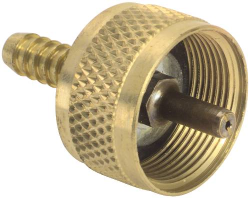 "GAS FEMALE SWIVEL FITTING 1"" 20 SWIVEL X 1/4"" HOSE BARB"