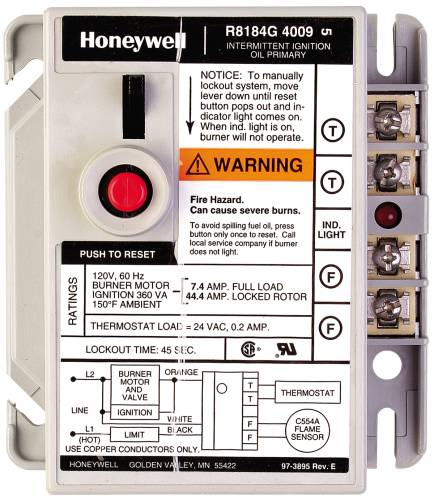 PROTECTORELAY OIL BURNER CONTROL 45 SECOND LOCKOUT