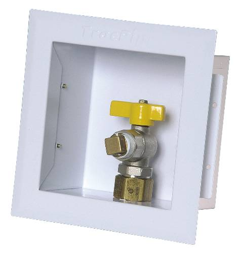 GAS OUTLET VALVE BOX 3/4""