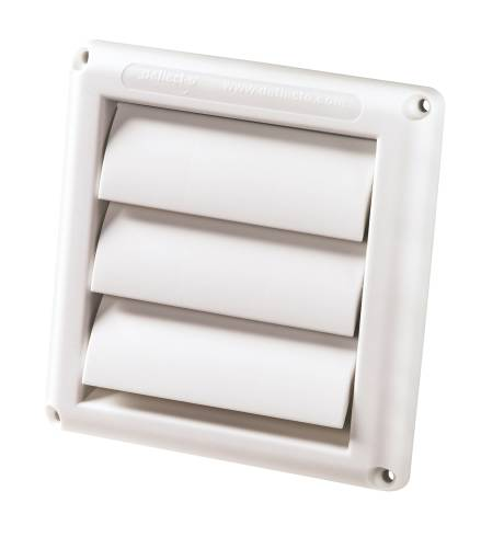 VENT LOUVER HOOD 4 IN. WHITE