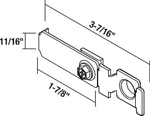 CLOSET DOOR METAL PIVOT BRACKET