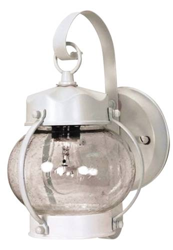 OUTDOOR ONION WALL LANTERN-1 LIGHT-WHITE
