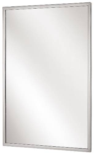 BRADLEY ANGLE FRAME MIRROR 24 IN. X 42 IN. STAINLESS STEEL