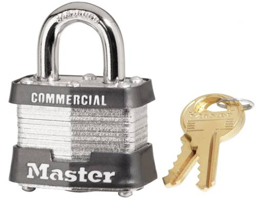 MASTER #3 1 - 1/2 INCH PADLOCK WITH BRASS KEY