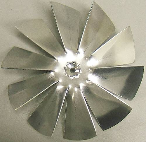 FAN BLADE 4 1/2 IN ALUMINUM 10 BLADES 3/16 IN SHAFT CW