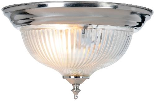 HALOPHANE SWIRL GLASS CEILING FIXTURE, MAXIMUM ONE 75 WATT INCAN