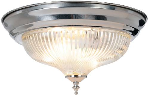 HALOPHANE SWIRL GLASS CEILING FIXTURE, MAXIMUM TWO 75 WATT INCAN