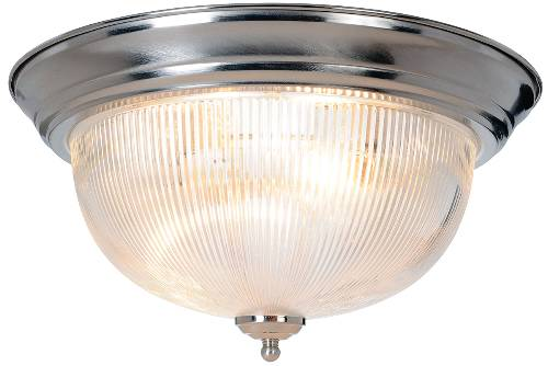 HALOPHANE DOME CEILING FIXTURE, MAXIMUM TWO 60 WATT INCANDESCENT