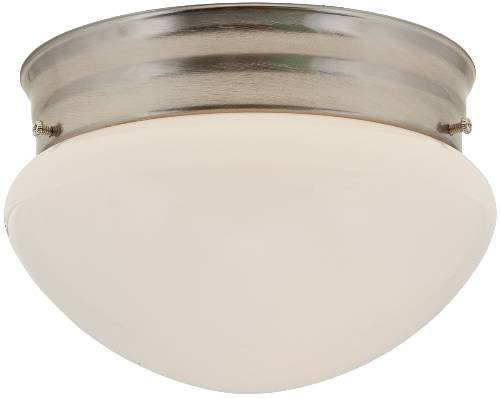 CEILING FIXTURE WITH MUSHROOM SHAPES WHITE GLASS, MAXIMUM ONE 60