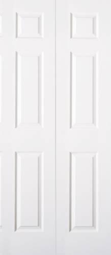 6 PANEL PRIMED WHITE BIFOLD DOOR 24 IN. X 80 IN.