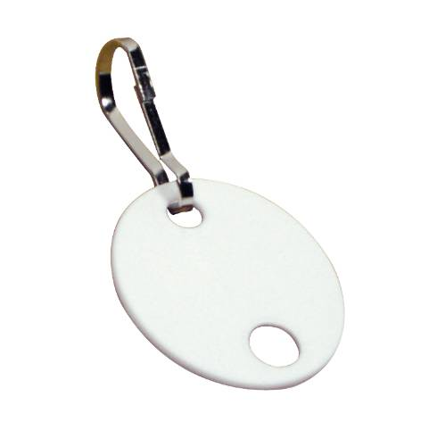 ROUND KEY TAG 1 1/4 IN 20 PACK