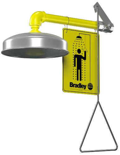 BRADLEY DRENCH SHOWER WITH HORIZONTAL SUPPLY
