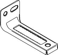 TOP PIVOT BRACKET FOR BI-FOLD CLOSET DOOR 7/32 IN. W X 3-3/4 IN.