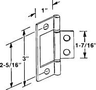 NON MORTISE HINGE