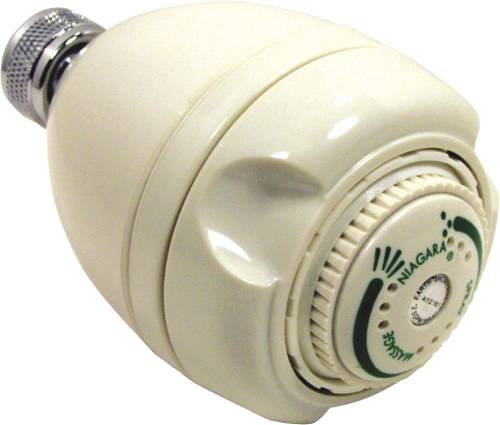 NIAGARA SHOWER HEAD 1.7 GPM FLOW WHITE