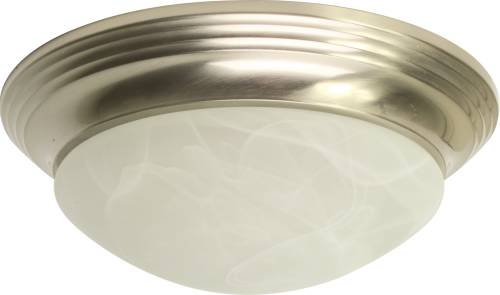DECORATIVE FLUSH MOUNT CEILING FIXTURE, MAXIMUM TWO 60 WATT INCA