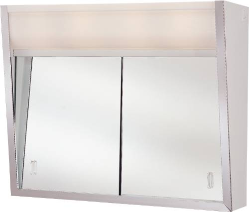 MEDICINE CABINET 2 LIGHT 24 IN. X 20 IN. SLIDING DOORS