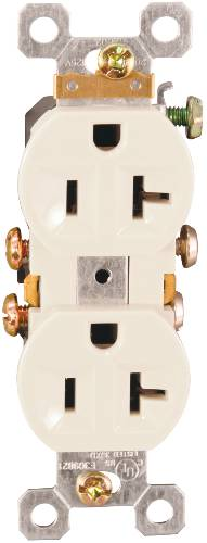 DUPLEX RECEPTACLE 20 AMPS IVORY
