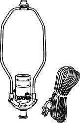 LAMP KIT WITH TURN KNOB SOCKET AND 10 FT. LAMP CORD FOR MEDIUM B