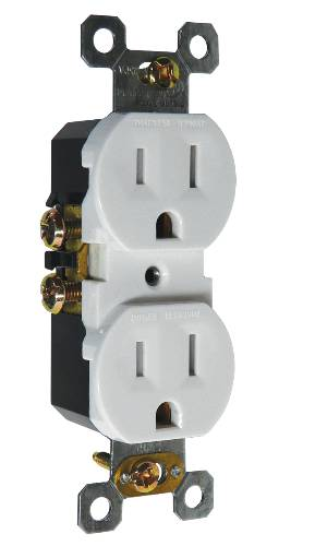 RECEPTACLE TAMPER PROOF 15 AMP ALMOND