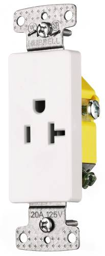 DECORATOR RECEPTACLE SINGLE SELF GROUNDING 20 AMPS IVORY