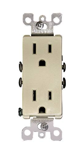 DECORA DUPLEX RECEPTACLE WHITE